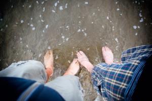 Füße im Pazifik