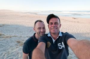 alte Männer am Strand