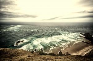 Zusammenstoßen der Meere